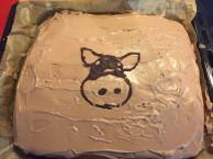 Der Blechkuchen von Miriam mit sau-saugut-Logo