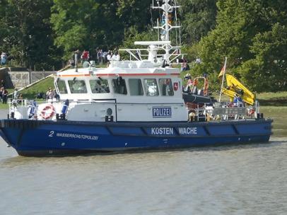Die Wasserschutzpolizei passt auf